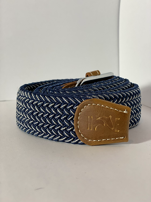 Blue & white fleck Elastic Belt