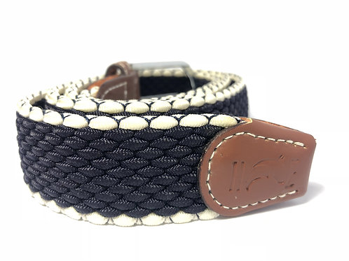 Navy Blue & White outlined Belt