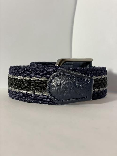 Navy, Black & Grey Elastic Belt