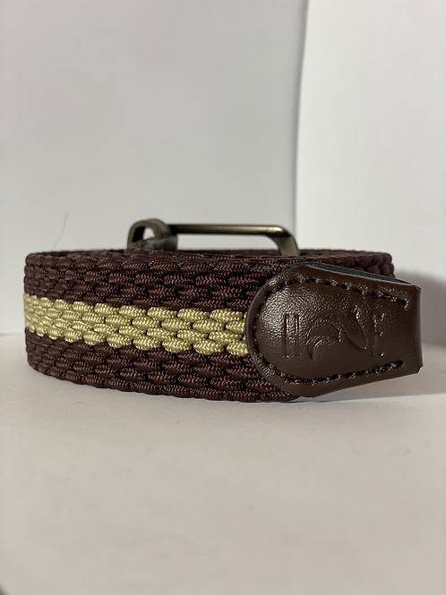 Brown & Gold Elastic Belt