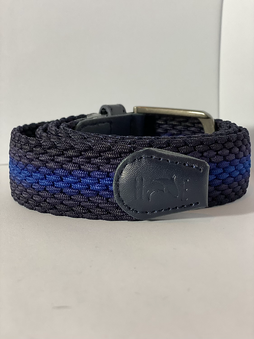 Blue 3 tone Elastic Belt