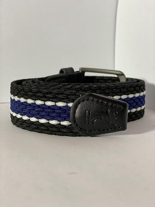 Black, blue & white Elastic Belt