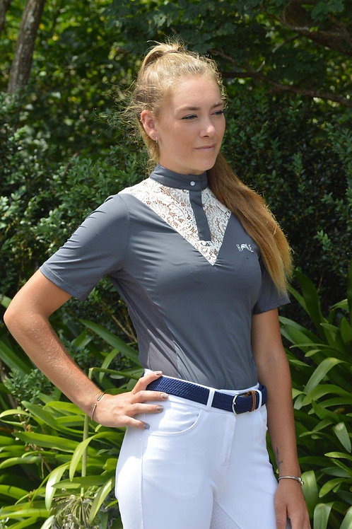 Dark Grey Lace Competition Shirt