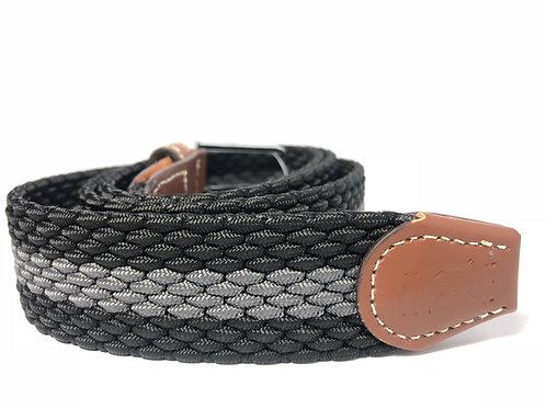 Dark/Light Grey, brown leather Elastic Belt