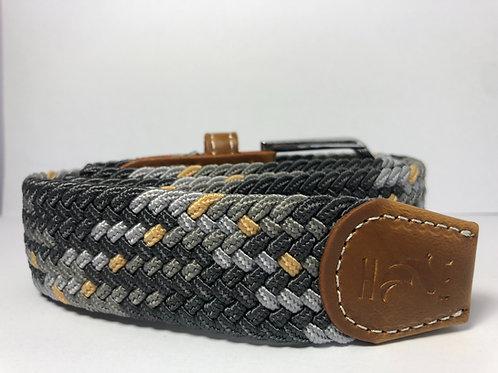 Three Toned Grey & Yellow Fleck Belt