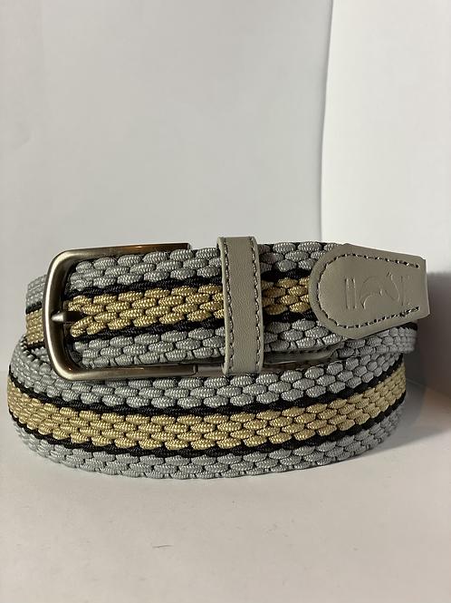 Silver, gold & black Elastic Belt