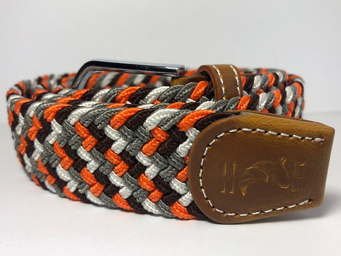 Orange, Black, Grey & White Fleck Belt