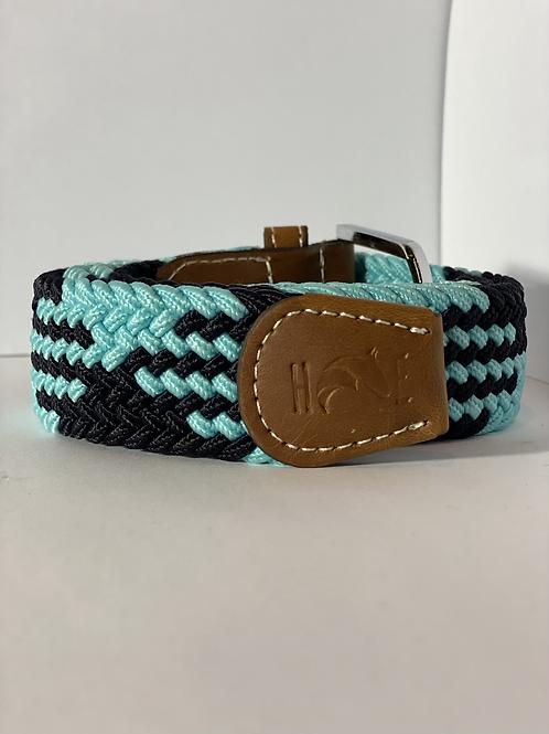 Baby blue & black Elastic Belt