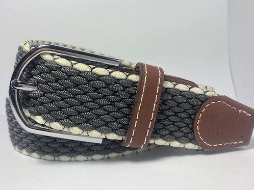 Grey & White Outline Belt