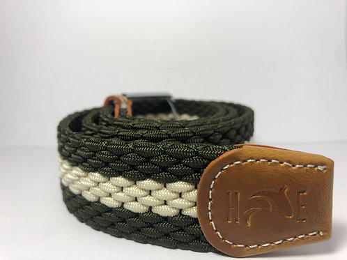 Dark Green & Creme Belt