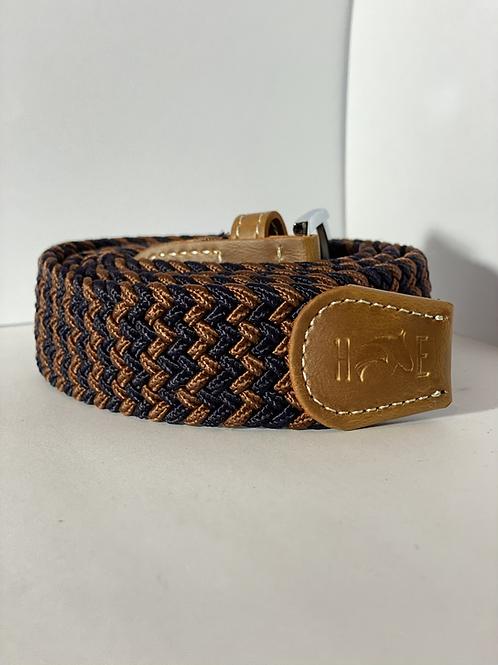Navy & Copper Elastic Belt