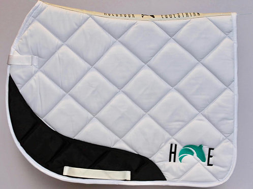 White Saddle Pad