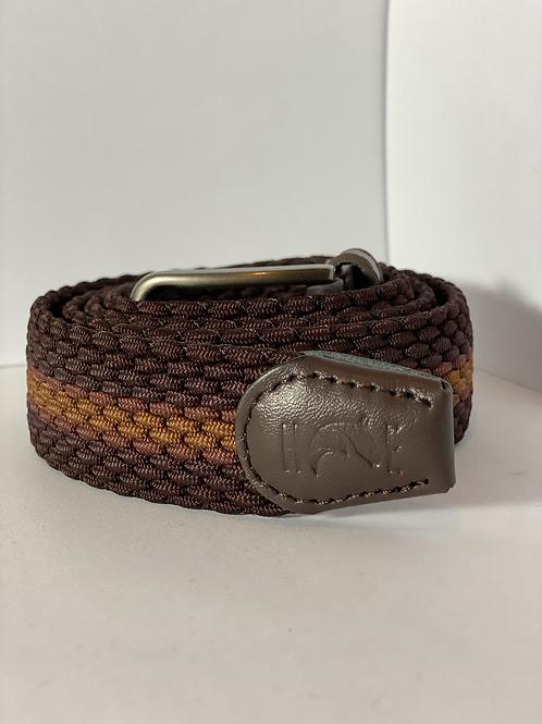 Brown 3 tone Elastic Belt