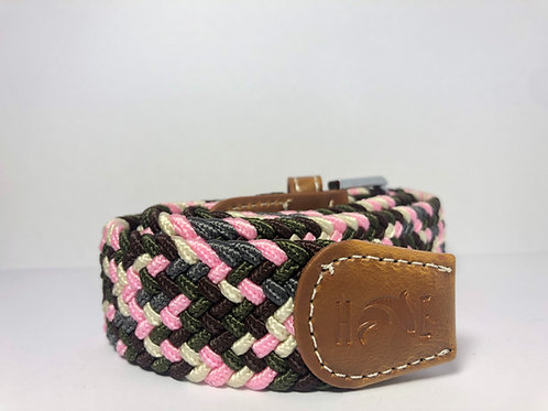 Pink, Grey, Green, Brown & White Fleck Belt