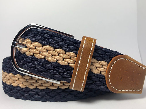 Navy & Creme Belt