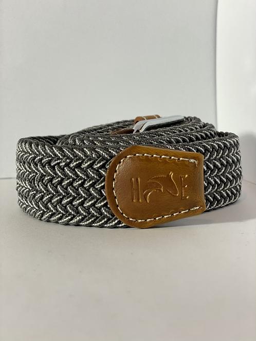 Grey & white Fleck Elastic Belt