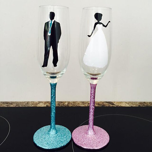Mr & Mrs Silhouette Set