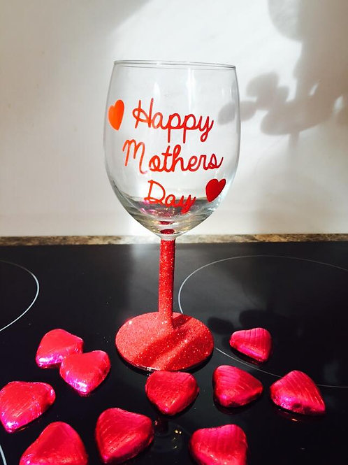 Happy Mothers Day Wine Glass