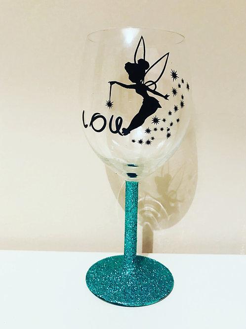 Personalised Pixie Wine Glass
