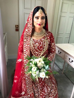 Beautiful Pakistani bridal look.