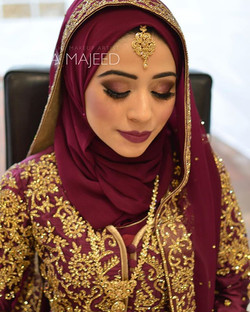 Love this burgundy plum colour on the beautiful Muneeba. Feel very blessed to be apart of all her we