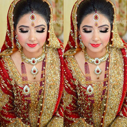 My beautiful bride Maheen from a few weeks ago _)_#hairstylist #pakistaniwedding #eid #indianwedding