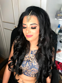 Stunning party hair and makeup look