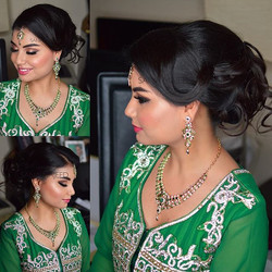 Beautiful Mariam on her brothers wedding 😘 #westlondonmakeupartist #shamalahhairstylist #hairup #mh