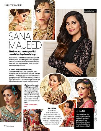 Sana Majeed Asian Bridal hair and makeup artist reveals her top beauty secrets