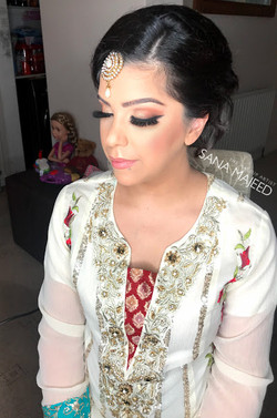 Party hair and makeup for Jasmine
