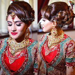 Isn't she beautiful! Bridal hair by me, makeup by talented _vianne_najeeb_mua _#mua #makeupartist #m