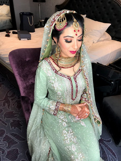 Zahraa ready on her Walima
