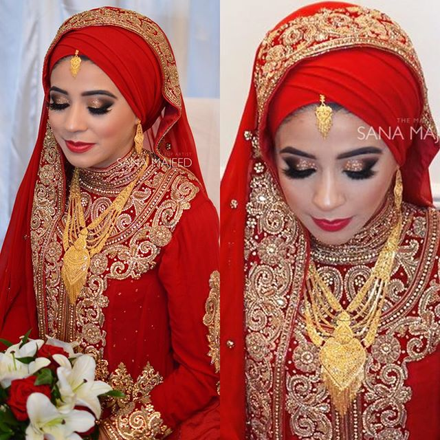 Beautiful Muneeba on her wedding day, the last look I created for her
