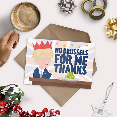 No Brussels For Me Greeting Card