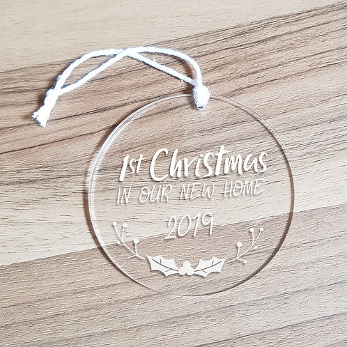 Personalised First Christmas in Our New Home Ornament