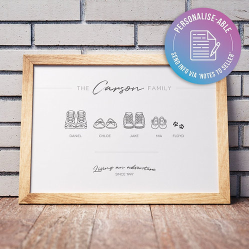 Choose Your Family Shoes [PERSONALISED]