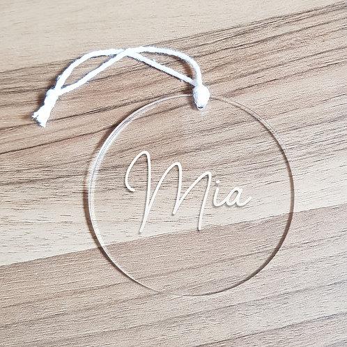 Personalised Name Ornament