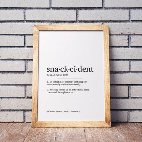 Snackcident Definition Poster