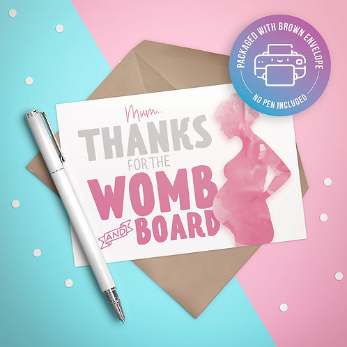 Womb & Board Card