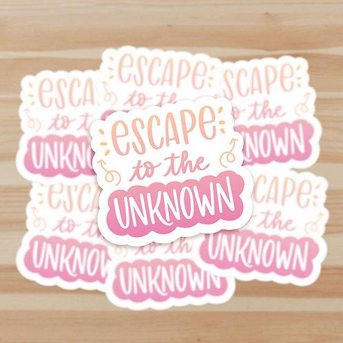 Escape to the Unknown Stickers