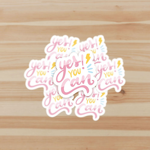 Yes You Can Stickers