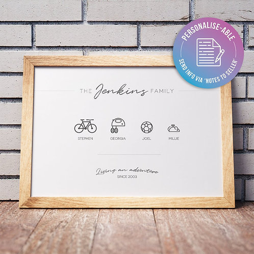 Choose Your Family Icons [PERSONALISED]