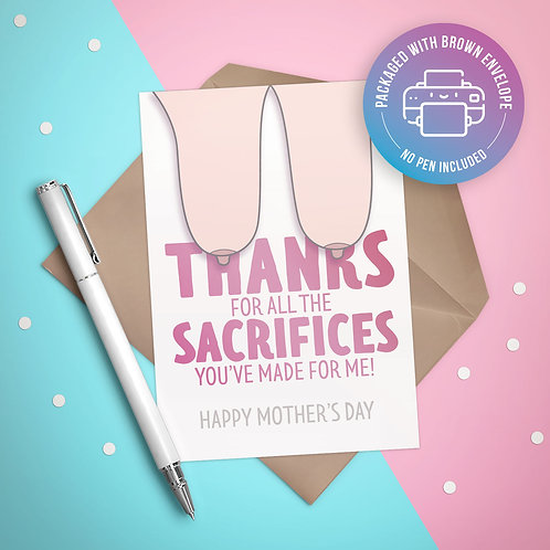 Thanks for all the Sacrifices Card