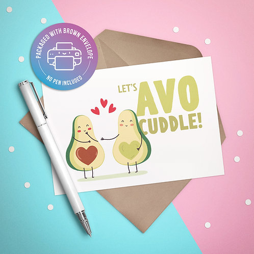 Let's AVO-Cuddle Card