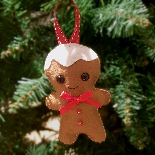 Hand-sewn Christmas Gingerbread Man