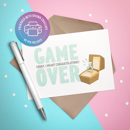 GAME OVER! Engagement Card