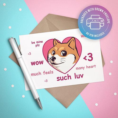 Doge Love Card