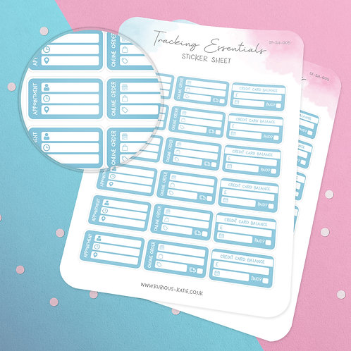 Essential Tracking Sticker Sheet