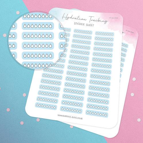 Hydration Tracker Sticker Sheet