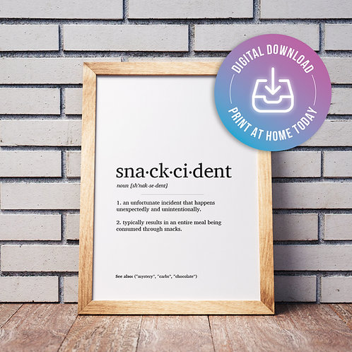 Snackcident Definition